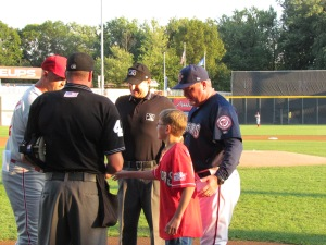 Delivering the lineup with Manager Matt LeCroy