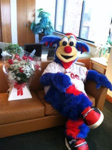 Rascal patiently waited to deliver Valentine's surprises!