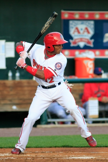 Rafael Bautista was the only Senator with multiple hits as the outfielder went 2-for-5 (Will Bentzel / MiLB)