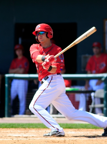 Spencer Kieboom rapped out two hits and scored a run for the Senators on Friday night. (Will Bentzel / MiLB)
