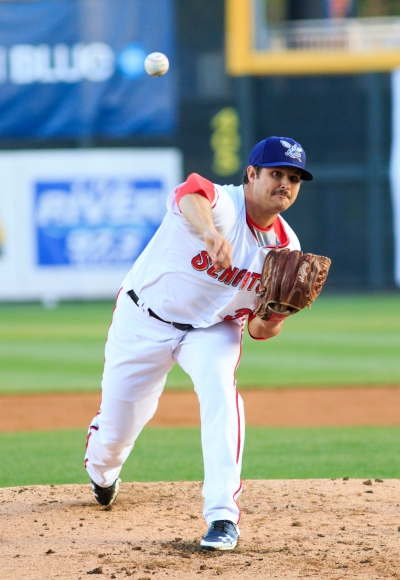 Despite seven strong innings, Tyler Mapes was the tough luck loser on Thursday night at FNB Field.