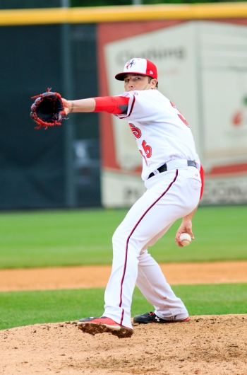 Derek Self did yeoman's work to earn the win and save the bullpen (Will Bentzel / MiLB)