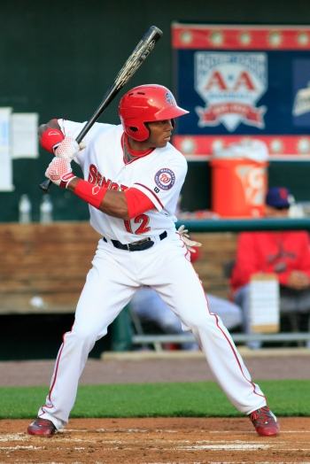Rafael Bautista continued his climb up the Eastern League hit leaders with three more base hits on Sunday (Will Bentzel / MiLB)