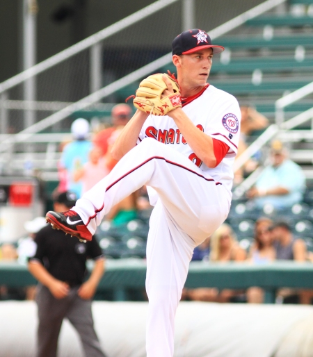 Robert Benincasa picked up his second save of the season as the right-hander returns from Tommy John surgery (Will Bentzel / MiLB)