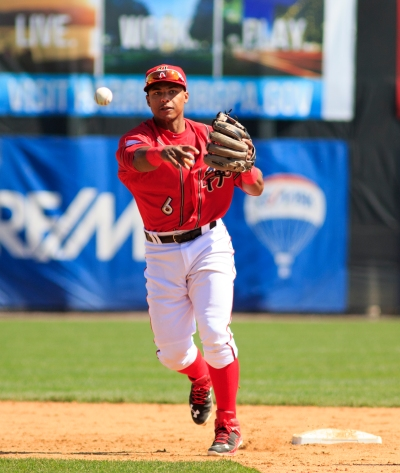 Wilmer Difo went 2-for-4, scored two runs, and continued his stellar defense at shortstop. (Will Bentzel / MiLB)