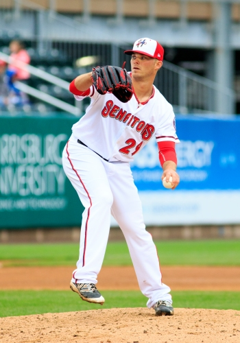Nick Lee was the only Senators' pitcher who wasn't scored on in their 12-10 loss (Will Bentzel / MiLB)