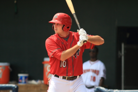 Shawn Pleffner doubled home the go-ahead run and scored an insurance tally in the Senators' victory (Will Bentzel / MiLB)
