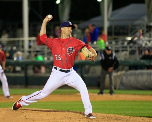 Andrew Robinson picked up his fifth save in as many opportunities (Will Bentzel / MiLB)
