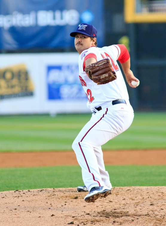 Tyler Mapes worked five innings to notch his Eastern League leading 12th win (Will Bentzel / MiLB)
